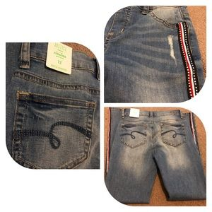 Justice Bottoms - NWT JUSTICE Blue Jean Jegging Mid Rise, sz 12